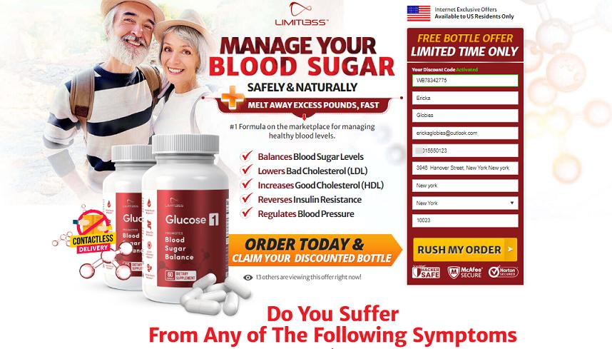 Limitless Glucose1 Price